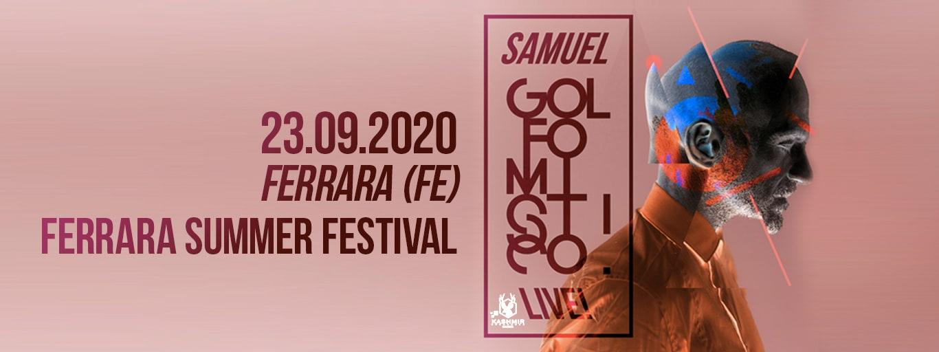Samuel from Subsonica: Golfo Mistico Tour – Mercoledì 23 Settembre 2020