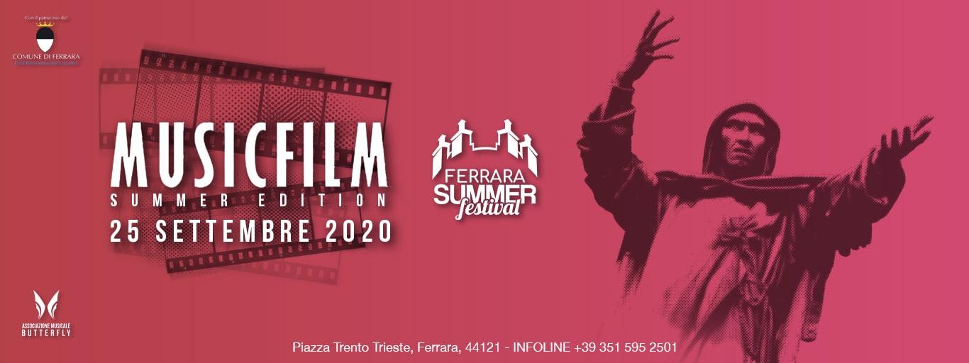 MUSICFILM Summer Edition – Venerdì 25 Settembre 2020