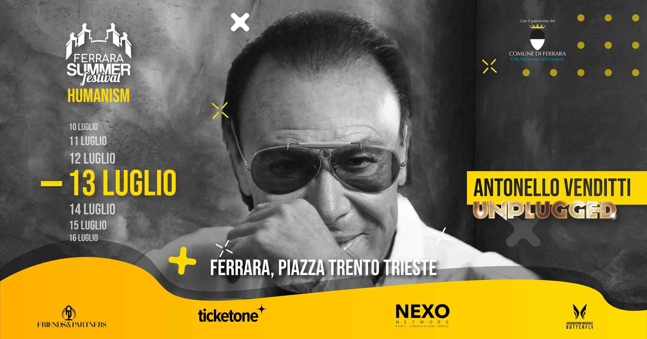 """""""ANTONELLO VENDITTI"""" – 13 Luglio 2021"""